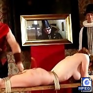 Brutal beatings in the dungeon - pretty girl with big tits tied and tormented