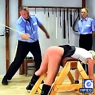 Sylvia cries out in a mix of pleasure and pain with each caning and vows never to cut class again