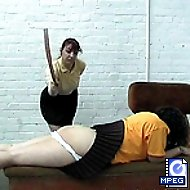School time punishments - spanked paddled and caned on her big wobbly ass cheeeks