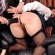 Housewife thrashed in old school uniform