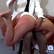 Naughty lady is getting a harsh spanking OTK and a humiliating medical examination