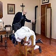 Historic punishment scenario with a stunning girl from Eastern Europe