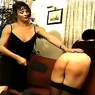 Frigid Femdomme punishes her sexy students for causing trouble