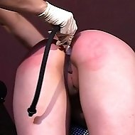 Misbehaving goody-two-shoes gets her bottom smacked with the wooden spoon