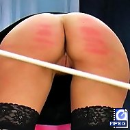 Keira has slacked off all day and not gets a painful bare bottom spanking from her punishing boss