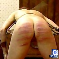 Severe and relentless caning punishments - naked buttocks swollen and bruised